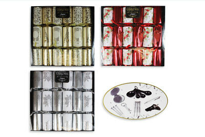 Christmas Crackers Deluxe Box Of 6 Xmas Party Tableware & Decoration