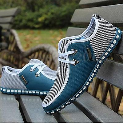 New Fashion Mens Sneakers Trainers Canvas Breathable Sport Running Casual Shoes