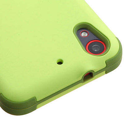 For Htc Desire 530 Green Tea Olive Reinforced Shock Proof Tuff Case Cover