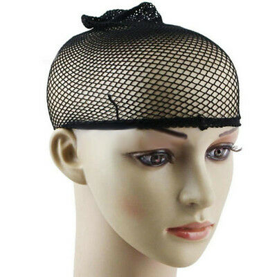 black elastic 3pcs stretchable hair nets snood wig cap cool mesh new cosplay