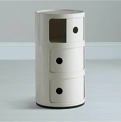 Bedside Cabinet Round Drawer Stand Bathroom Table Kartell Style Componibili