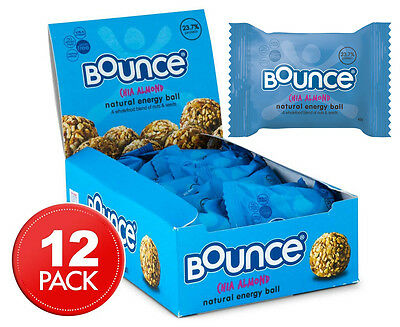 12 x Bounce Chia Almond Energy Balls 42g