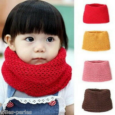 JP Winter Neckerchief Children Cotton Baby Warm Soft Boys Girls Scarves Knitted