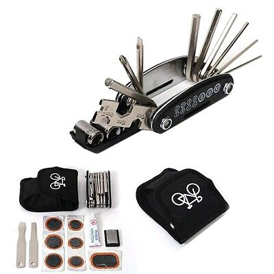 1 Set Bike Bicycle Portable Cycling Tyre Repair Kit Tool With Tool Bag ZA