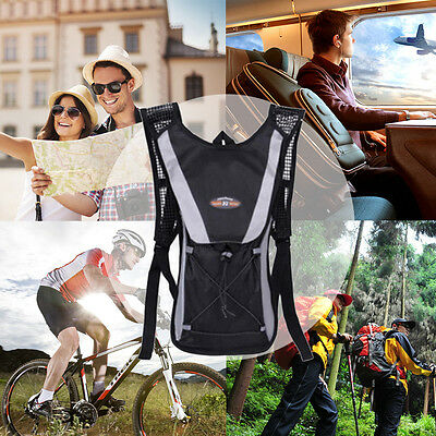 2L Bicycle Cycling Sport Outdoor Travel Bag Hiking Hydration Backpack Bike ZA