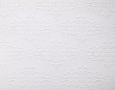 Dolls House Embossed Ceiling Paper Miniature Print 1:24 Scale Wallpaper