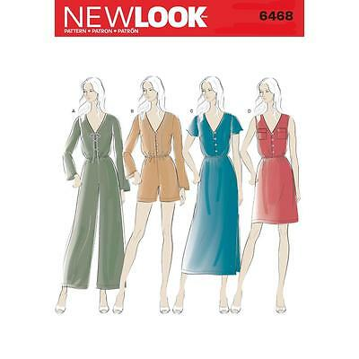 New Look Sewing Pattern Misses' Jumpsuit & Dress Size 6 - 16 6468