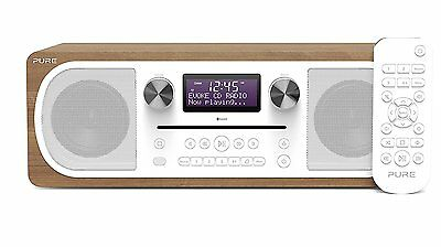 Pure Evoke C-D6 Stereo Digital DAB/FM Radio with CD and Bluetooth - Walnut