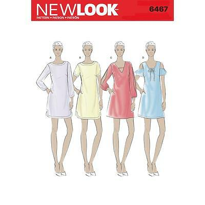 New Look Sewing Pattern Misses' Shift Dresses Dress Size 10 - 22