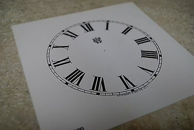 One Waterbury Paper Dial 5 Inch Time Track Roman Numeral White Color Dial