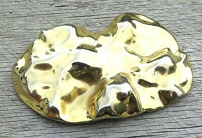Charmant Gold Tone Ladies Womens Abstract 1970's Vintage Belt Buckle