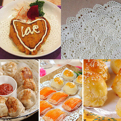 80X Lace Doily Wedding Party Cupcake Cake Cookies Round Paper Pads Placemat WB