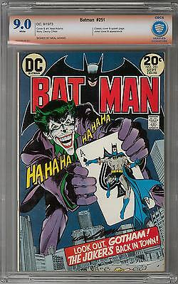 Batman #251 CBCS 9.0 (W) Signed By Neal Adams Signature Verified