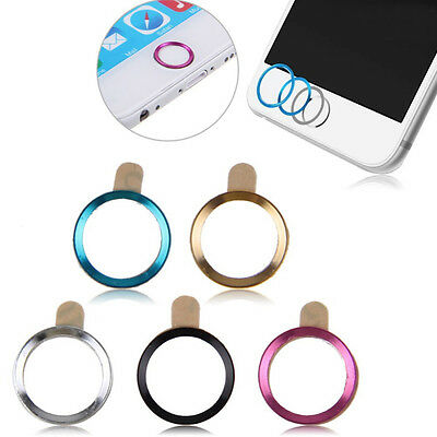 New Fashion 5pcs Aluminium Metal Touch ID Home Button Sticker Decals for iPhone