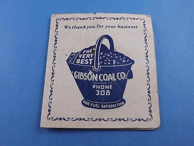 Needle Case Folder Gibson Coal Co. Brantford Canada Worlds Finest Anthracite