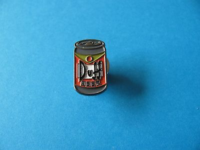 Simpson DUFF BEER Can pin badge. VGC. Unused. Simpsons.
