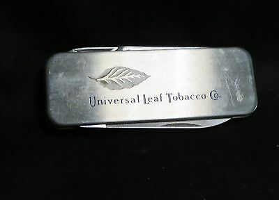 Vintage Universal Leaf Tobacco Co Zippo Pocket Knife and Money Clip In One