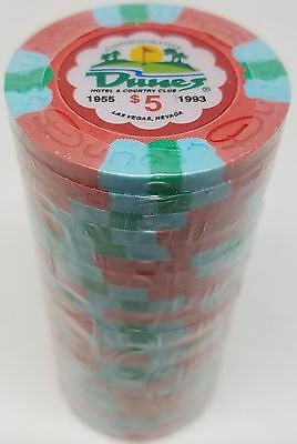 Poker Chips (25) $5 Dunes Commemorative 9 gram Clay Composite FREE SHIPPING*