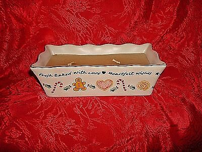 Gingerbread Man Candle Serving Baking Pan Heartfelt Wishes