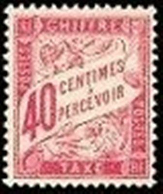 "FRANCE STAMP TIMBRE TAXE N° 35 "" TYPE DUVAL 40c ROSE "" NEUF xx TTB"