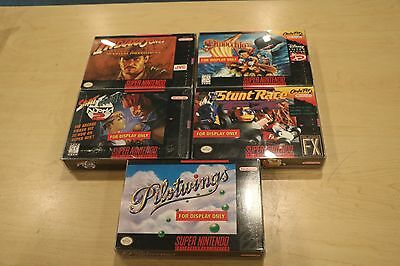 Super Nintendo Snes Lot Of 5 Display Boxes Only Street Fighter Alpha Indiana