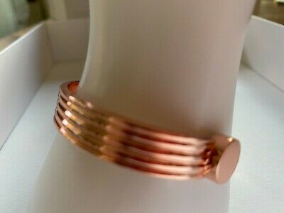 Copper Magnetic Bracelet Arthritis Therapy Women Men Adjustable Roman Cuff New