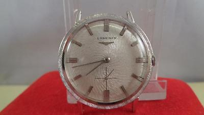longines  Wristwatch Vintage 14k White Gold 25g Service New Crystal and Cleaned