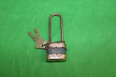 RADIO Padlock And 2 Keys Antique Vintage Works