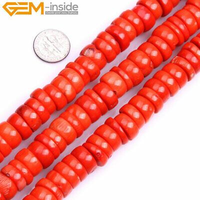 "Column Coral Stone Beads For Jewelry Making 15"" Beads in Lots Freeform Size"