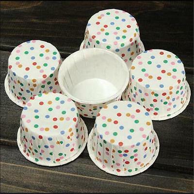 100pcs Colorful Paper Cake Cupcake Liner Case Wrapper Muffin Baking Cup Party v4