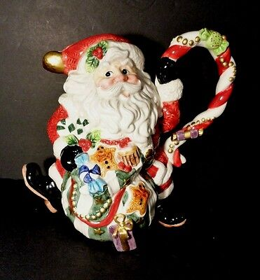 Fitz & Floyd Sugar Plum Christmas Santa Pitcher