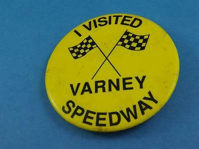 VARNEY SPEEDWAY ONTARIO VINTAGE BUTTON CAR RACE COLLECTOR renamed FULL THROTTLE