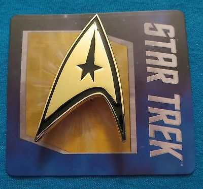 Star Trek Captain Kirk's Command Badge Pin New