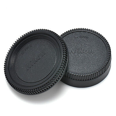 New 2PCS Body Lens Cap Front + Rear Cover For Nikon AF AF-S Lens DSLR SLR Camera