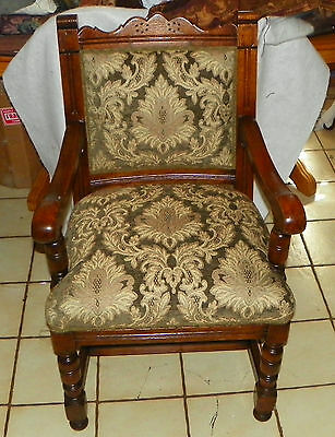 Solid Oak Carved Armchair / Parlor Chair  (AC142)