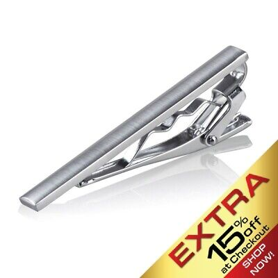 Gentleman Silver Metal Simple Necktie Tie Clip Bar Clasp Plain Practical