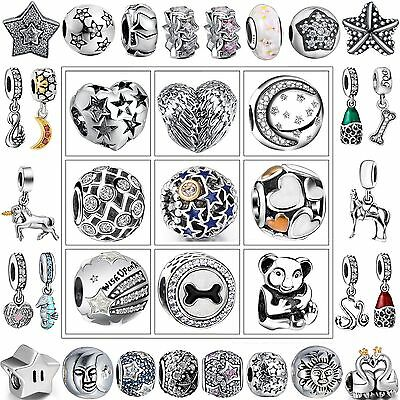 New Luxury Fashion 925 Sterling Silver Charms European Bead For Bracelet Bangle
