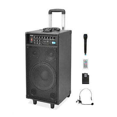 Pyle PWMA1090UI Dual Channel Wireless Portable PA System & Microphones