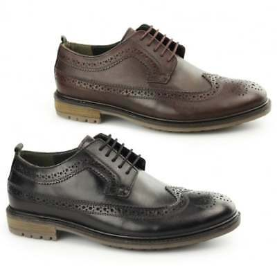 cc0cb8ee2d89 Silver Street London FENCHURCH Mens Leather Smart Formal Derby Lace Up  Brogues