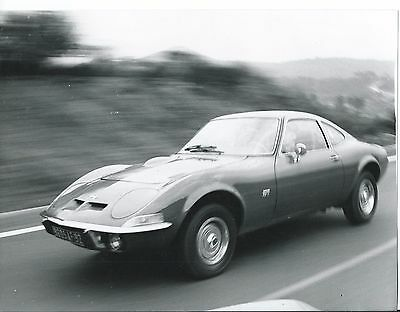 Opel GT 1976 Original Press Photograph Car on the Move Excellent Condition