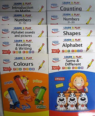 Learn & Play Educational Work Books for Children Age 3 to 7 (10 subjects)