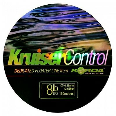 Korda NEW Kruiser Control Surface Float Fishing Line 150m 10lb - KM10