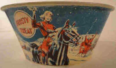 Frosty Treat Ice Cream Wax DIXIE Cup Horse Sleigh Winter Vintage 1940's