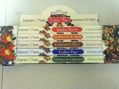 Christmas, Festive Time Incense Gift Pack, Contains 40 Sticks - Free Uk P&p