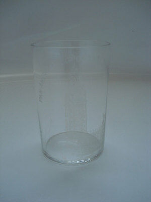1901 Buffalo  Pan American Expo Etched Glass Tumbler