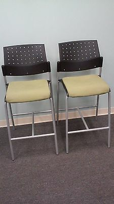 Global Sonic Armless Bar Stool Model #6559 Excellent Condition Tag #49