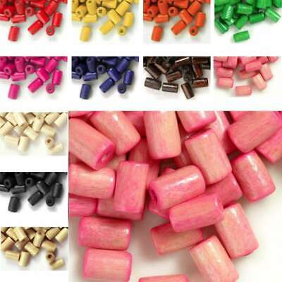450pcs Approx Wooden Wood Beads Spacer Tube Beads 8x5mm Jewelry Findings BM