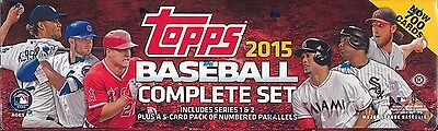 2015 Topps Baseball Factory Sealed 705 Card HOBBY Factory Set-5 Parallels #/179!
