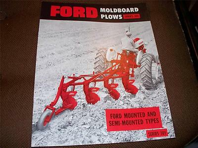 1950's Ford Series 101 Moldboard Plow Brochure 601 901 Tractor Nice Condition