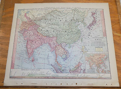 1885 Antique Map ///  SOUTHEASTERN ASIA